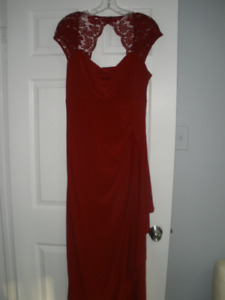 ELEGANT LONG RED DRESS, BRAND NEW WITH TAGS