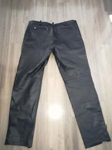 Pantalon moto cuir homme XL