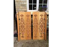 Window shutters - hand carved pattern