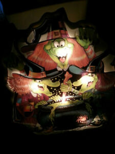 The Three witches 3D/relief Window  Halloween Decoration