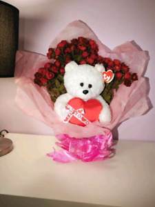 Flower Bouquet with Ty Classic bear