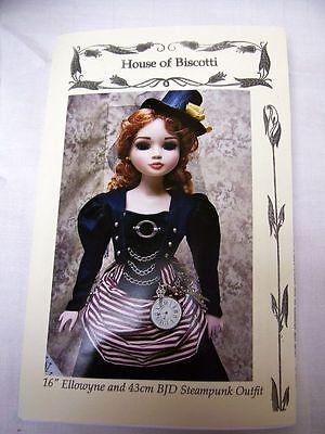 "16"" Tonner Ellowyne Victorian ""Steampunk"" PATTERN  Bustier, 2 Outfits,"