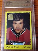 Dave Schultz Topps/Opc Archives 2002 1 of 1 graded hockey card