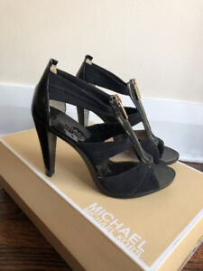 Michael by Michael Kors Sandal Shoes Size US 5 Black Stretchy