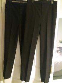 BNWT Age 10-11 years Adjustable Waist 2 x Pairs Boys Black School Trousers