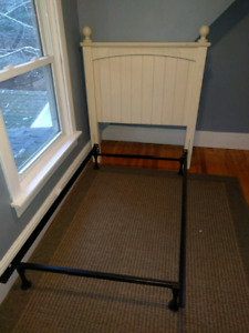 Single bed frame and headboard for sale