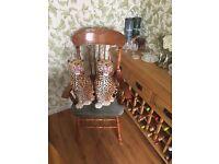 2 Portuguese Martan ceramic tiger ornaments