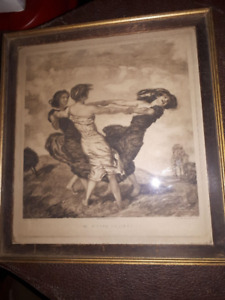 The Merry Dancers early print by von Stuck