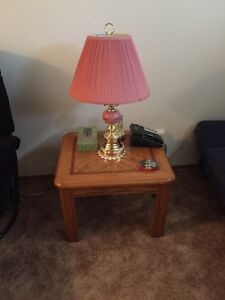 Lamp with end table