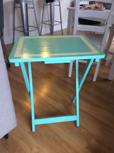 Tiffany Blue Bed Side Table