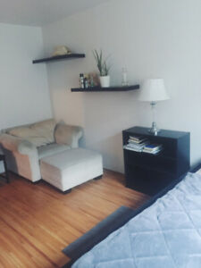Semi-furnished Large Room in beautiful Downtown West End