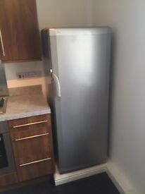 Beko fridge PAT tested - tall larder silver TLDA625S