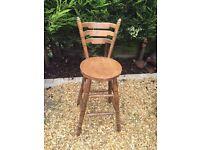 Tall Wooden Bar Stool/Chair