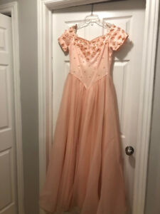 Lot of 3 formal dresses size 8 - Peach, Pink and Purple