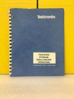 Tektronix 7633r7633 Storage Oscilloscope Operators Instruction Manual