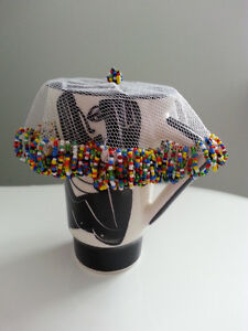 6  beading & net, covers bowls and cups (food covers),