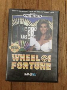 Wheel of Fortune Sega Genesis Complete