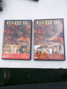 4 Wild West movies on two DVDs