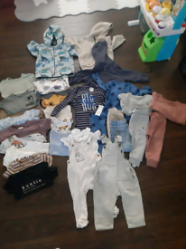 Baby Boys 9 to 12 months and 12 to 18 months clothes bundle