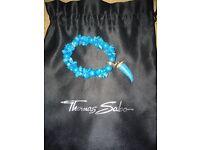Thomas Sabo - turquoise bracelet and charm