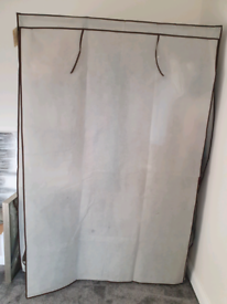 2 Canvas wardrobes 1 week old. 1 double 1 single