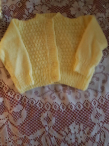 New knitted babies sweaters