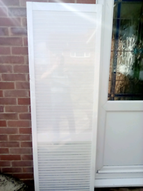 Solid pine white painted Louvre door