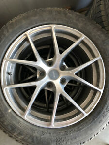 WINTER TIRES SET OF 4 WITH RIMS. 225/55R17 MICHELINS