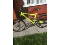 Commercial full suspension bike for sale in parts