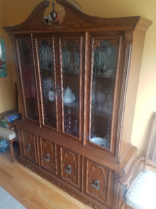 Buffet, Hutch, Table, & Chairs