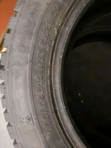 A set of 4 winter Tires for sale 90% thread new 195/65 R15