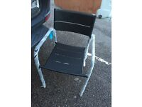 BRAND NEW BLACK GARDEN CHAIRS OUTDOOR PATIO CAFE CHAIR WATERPROOF RRP£25 HOMEBASE