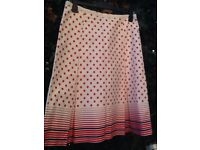 ❤️Oasis 100% cotton skirt size 12 waist 32 inch
