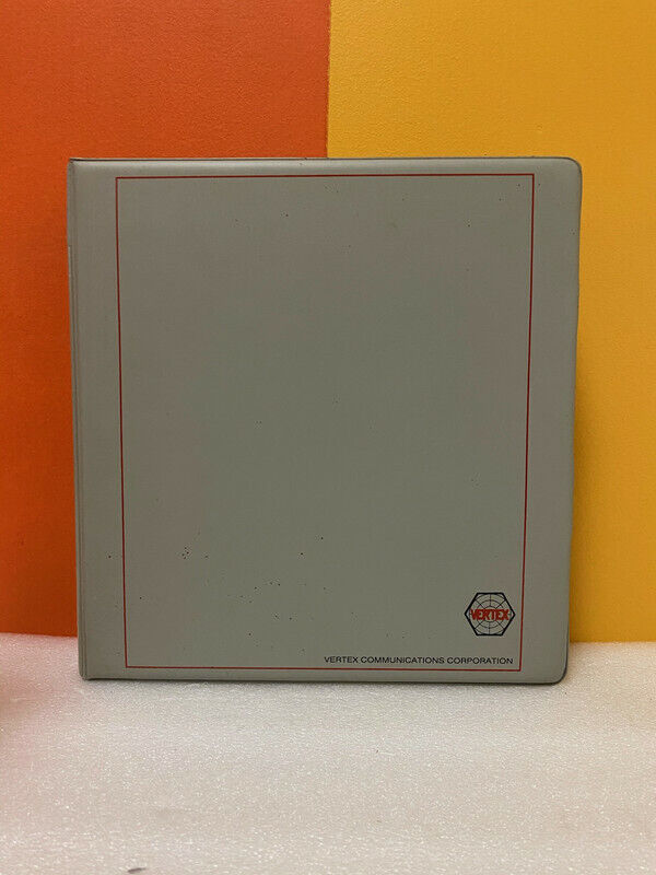 VerTex 600-0082 7200 Antenna Control System Operation and Maintenance Manual