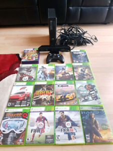 Xbox 360 + Kinect + Games + 1 controller