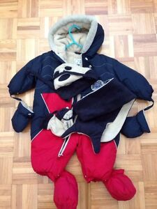 Gusti snowsuit with hat, mitts and scarf size 12 months