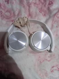 Sony white headphones