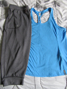 Under Armour fly by tank mesh & Tech Crops for $10.00