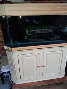 90 Gallon Bow Front Aquariun and Matching Stand