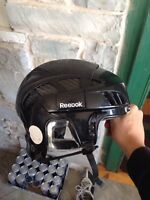 Black Reebok 8K hockey helmet