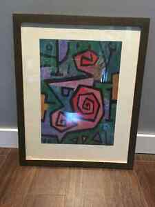 Framed Paul Klee print
