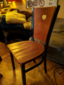 Vintage Industrial Wooden Chairs