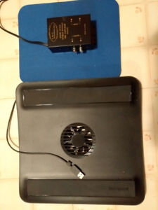 Pre amp and laptop cooler and mouse pad