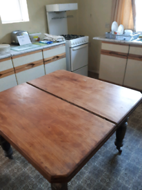 Beautiful Antique Ash or Oak Dining Table