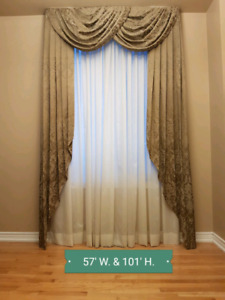 Drapes/Curtains taupe color (excellent condition)
