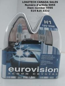 EUROVISION XENON CRYSTAL H1 HEADLIGHT BULB 12V 55W 4200K