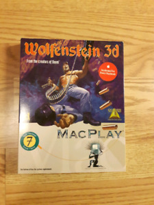 """Big Box Wolfenstein 3d Macplay 3.5"""" floppys"""
