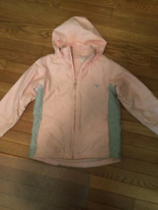 ATHLETIC WORKS JACKET WITH FLEECE INNER LINING--SIZE SMALL