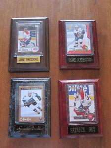 4 X Cartes de Joueurs de Hockey sur plaques