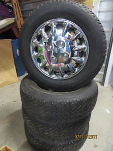 4 Tires on rims